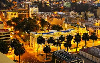 Vista del edificio de la Biblioteca Severín