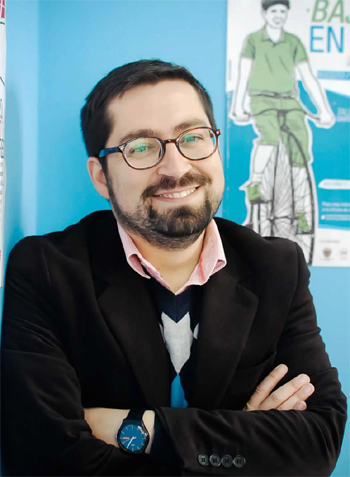 Cristián Venegas, director regional de Balmaceda Arte Joven
