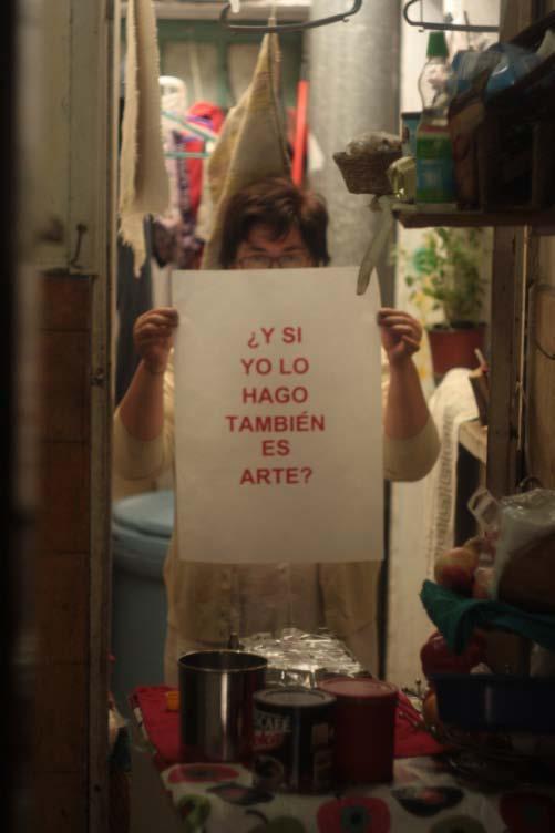 """De la serie """"Y si yo lo hago también es arte?, de Pablo Suazo."""