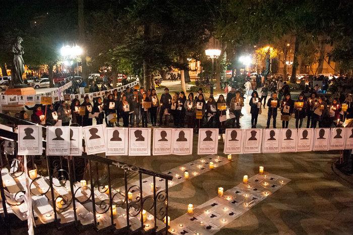 Caminata del Silencio. Plaza Victoria, Valparaíso. Fotografía: La Huacha Feminista.