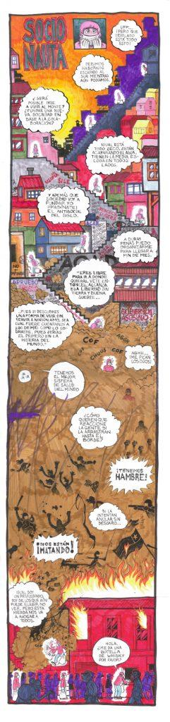 El ilustrador Nicolás Pérez de Arce nos sorprende con una nueva ilustración, reflejo del momento actual que vivimos en Chile.